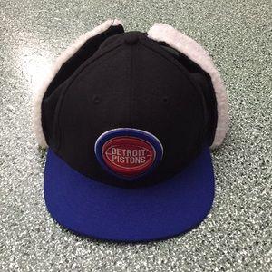 New Era Pistons Hybrid Winter Fitted Hat sz 7 5/8